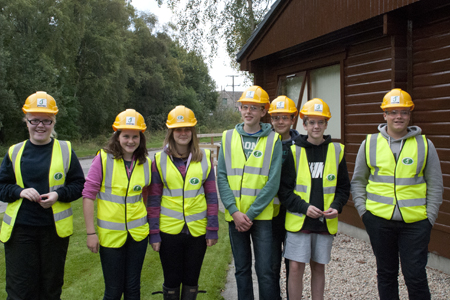S3 pupils at Aboyne Academy visit James Jones' sawmill at Aboyne