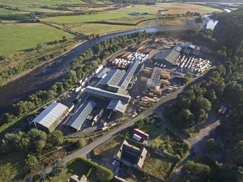 Aboyne Burnroot Sawmill from Drone Sept 16