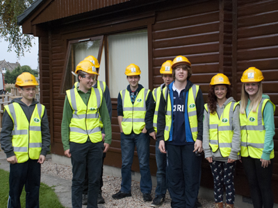 S3 pupils at Aboyne Academy visit James Jones' sawmill at Lockerbie