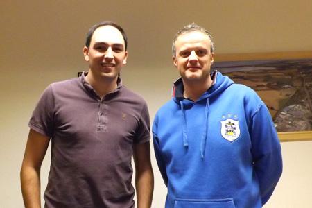 Daniel Walker and Paul Stead on JJI-Joist training course