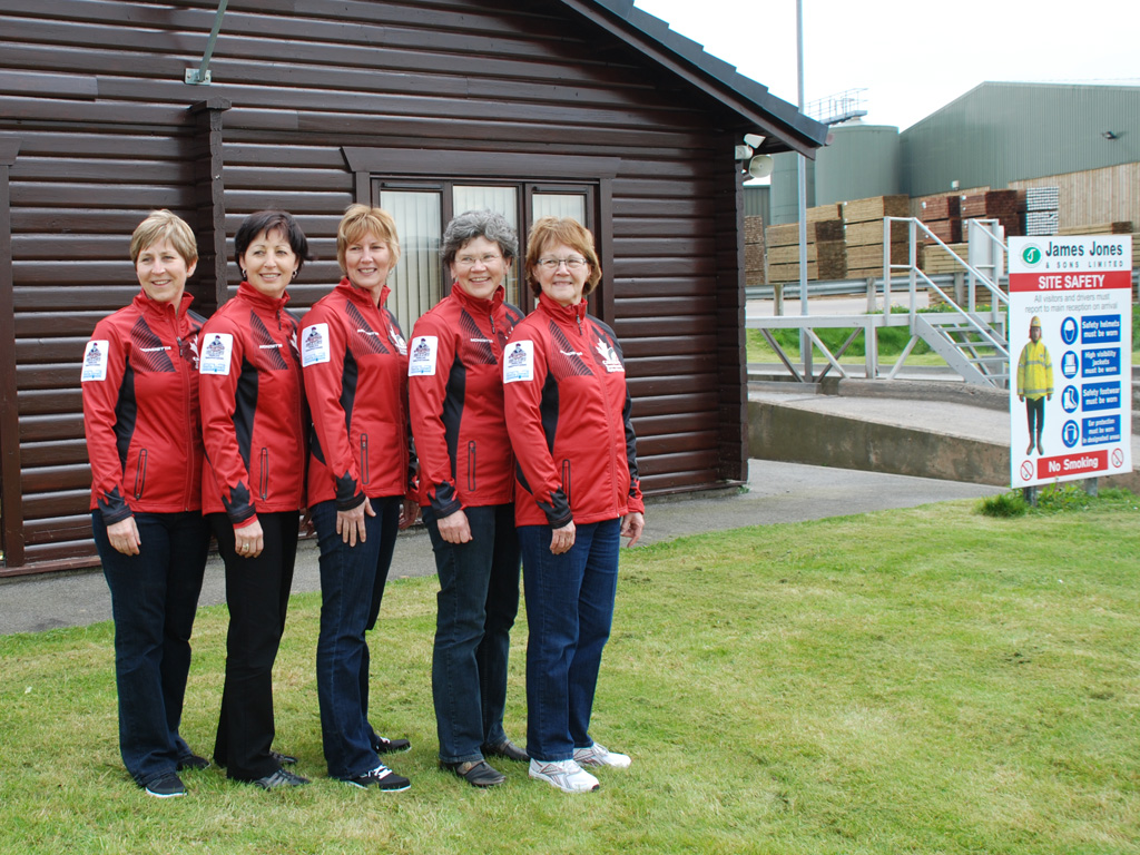 Canadian Senior Curling Team at Lockerbie April 2014