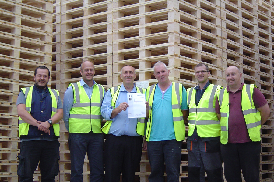 Team at Larch with ISO 14001, Tommy Cerrone, Mike Nicholls