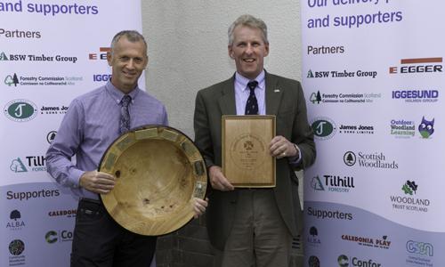 David Leslie of James Jones & Sons with Darrell Boult of Tilhill Forestry