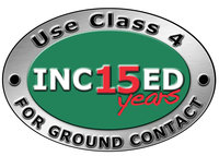 Incised 15 year logo